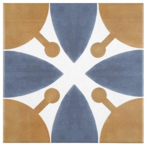 Multi Matte Square 7-3/4 in. x 7-3/4 in. Ceramic Floor and Wall Tile
