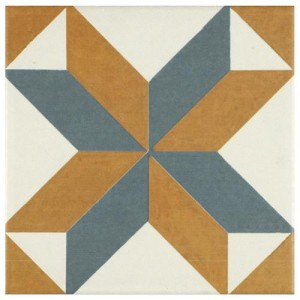 Multi Matte Square 7-3/4 in. x 7-3/4 in.Pattern Ceramic Floor and Wall Tile