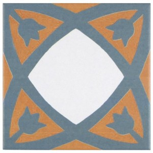 Multi Matte Square 7-3/4 in. x 7-3/4 in.Tulip Ceramic Floor and Wall Tile