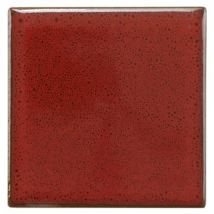 Audubon Glossy Scarlet Square 4 in. x 4 in. Ceramic Floor and Wall Tile
