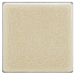 Audubon Glossy Bone Square 4 in. x 4 in. Vanilla Ceramic Floor and Wall Tile