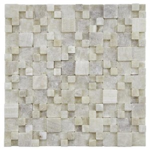 Bone Tumbled Square 12 in. x 12 in. x 12 mm Gaodi Jade Natural Stone Mosaic Wall Tile