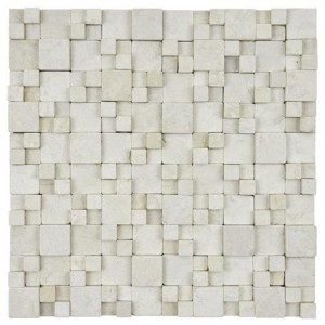 Slat Tumbled Square 12 in. x 12 in. x 12 mm Gaodi Kimpi  Natural Stone Mosaic Wall Tile