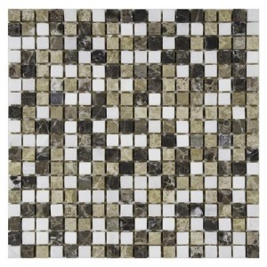 Multi Tumbled Square 12 in. x 12 in. x 9 mm Mini Sand Natural Stone Mosaic Wall Tile