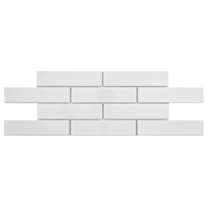 Cityside Glossy Pearl Brick 1-3/4 in. x 7-3/4 in. x 5 mm Subway Porcelain Floor and Wall Tile (1 sq. ft./pack)