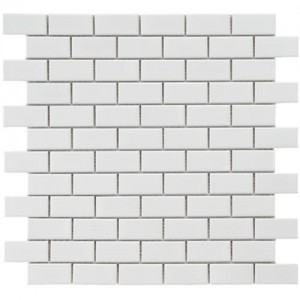 Cityside Glossy Pearl Brick 11-3/4 in. x 11-3/4 in. x 5 mm Subway Porcelain Mosaic Tile (9.6 sq. ft. / case)