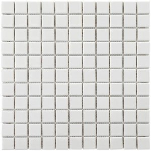 Cityside Glossy Pearl Square Pattern 11-3/4 in. x 11-3/4 in. x 5 mm Porcelain Mosaic Tile (9.6 sq. ft. / case)