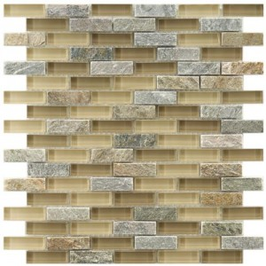Gypsy Mixed Multi Subway 11-3/4 in. x 12 in. x 8 mm Suffolk Glass and Stone Mosaic Wall Tile