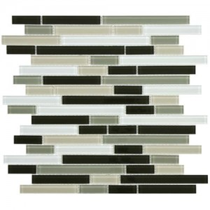 Multi Mixed Random Strip 11-3/4 in. x 11-3/4 in. x 4 mm Glass Mosaic Tile