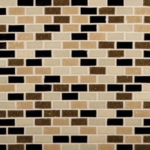 Multi Color Desert Spring Mini Brick Opaque Glass Mosaic Tile