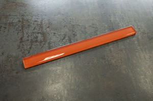 Fire orange 1 x 12 glass pencil molding trim