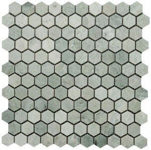 Ming Green Marble 1x1 Hexagon Polished Mosaic Tile