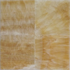 6x6 Honey Onyx Polished Tile (Each Sqft. = 4 Tiles)