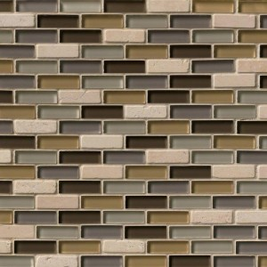 Luxor Valley Brick Pattern Glass Mosaic Tile