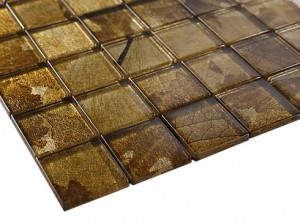 "Seasons serice 2"" x 2"" fall glass mosaic  tile"