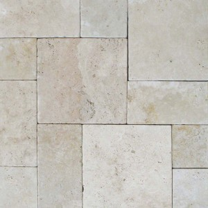 8 in. x 8 in. Tuscany Beige Tumbled Travertine Paver Tile (Each Tile = 0.444 Sqft.)