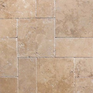 8 in. x 8 in. Tuscany Chocolde Tumbled Travertine Paver Tile (Each Tile = 0.444 Sqft.)