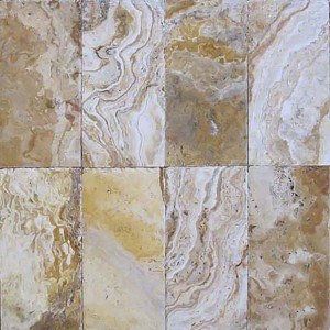 6 in. x 6 in. Tuscany Porcini Chiseled Edge Travertine Paver Tile (Each Sqft. = 4 Piece)
