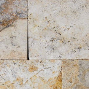 8 in. x 8 in. Tuscany Porcini Tumbled Travertine Paver Tile (Each Tile = 0.444 Sqft.)