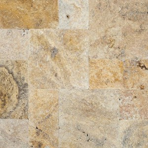 16 in. x 16 in. Tuscany Scabas Tumbled Travertine Paver Tile (Each Tile = 1.78 Sqft.)