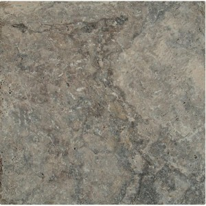 8 in. x 8 in. Silver Tumbled Travertine Paver Tile (Each Tile = 0.444 Sqft.)