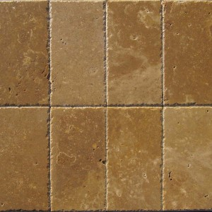 6 in. x 6 in. Tuscany Walnut Chiseled Edge Travertine Paver Tile (Each Sqft = 4 Piece)