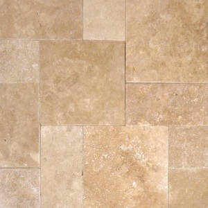 8 in. x 8 in. Tuscany Walnut Tumbled Travertine Paver Tile (Each Tile = 0.444 Sqft.)
