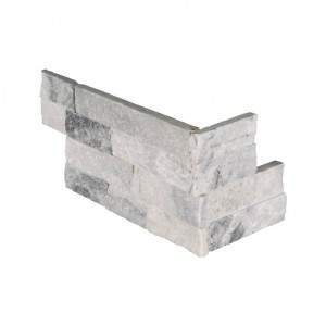 6 in. x 12 in. x 6 in. Alaska Gray Ledger Corner Natural Quartzite Wall Tile