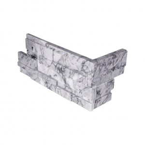 6 in. x 12 in. x 6 in. Statuarietto Capri 3D Honed Ledger Panel Corner Natural Quartzite Wall Tile