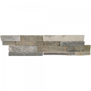 6 in. x 24 in. Sierra Blue Splitface Quartzite Ledger Panels Wall Tile
