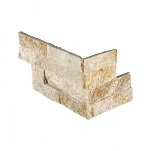 6 in. x 12 in. x 6 in. Sparkling Autumn Ledger Corner Natural Quartzite Wall Tile