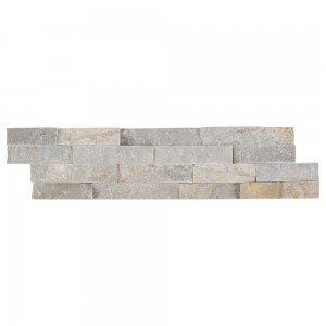 6 in. x 24 in. Sunset Silver Splitface Ledger Panel Tile | Wall | Backsplash | Accent Wall | Fireplace Surrounding | Garage | Kitchen | Shower | Bathroom