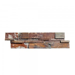 6 in. x 24 in. California Gold Splitface Slate Ledger Panels Wall Tile