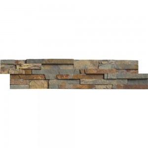 6 in. x 24 in. Gold Rush Natural Slate Ledger Panels Wall Tile