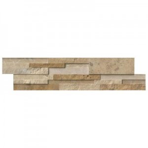 6 in. x 24 in. Casa Blend 3D Multi Finish Travertine Ledger Panels Wall Tile