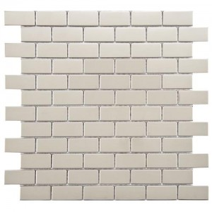 Metalicca Polished Bone Subway 11-3/4 in. x 11-3/4 in. x 8 Standard Mirrored Stainless Steel Over Porcelain Mosaic Wall Tile