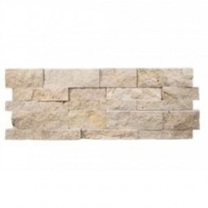 7 in. x 20 in. Tuscany Ivory Splitface Travertine Ledger Panels Wall Tile