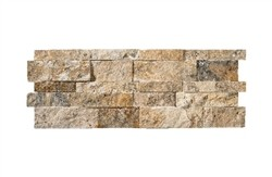 Scabos Travertine Splitface Ledger Wall Panel 7 in. x 20 in.