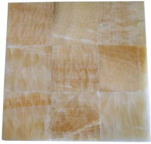 4x4 Honey Onyx Square Pattern Polished Finish  Mosaic Tile