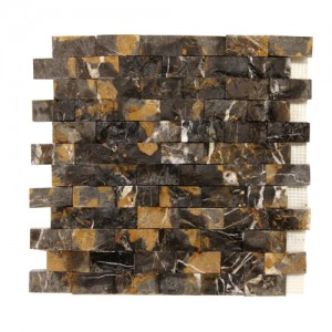 1 x 2 Michelangelo Marble Brick Pattern Split Face Mosaic Tile