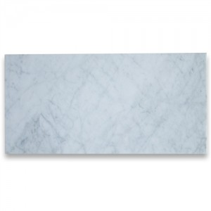 12 in x 24 in White Marble Carrara Solid Polished Flooring Tiles