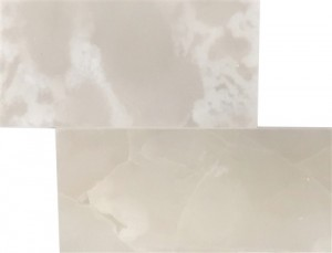 6x12 Pearl White Onyx Brick Pattern Polished Finish Mosaic Tile