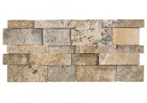 7 in. x 20 in. 3D Stack Honed Scabos Travertine Ledger Panels Wall Tile