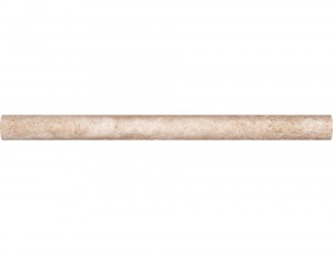 MS International Durango Cream Honed Travertine Dome Decorative Molding 1 in. x 12 in.