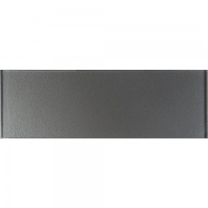 4 in. x 12 in. Metallic Gray 8mm Crystallized Glass Tile