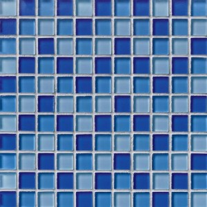 "1"" x 1"" Crystallized Blue Blend Glass Mosaic Tile"