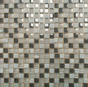 5/8x5/8 Quantum Artic Cloud Glass Stone Blend  Mosaic Tile