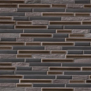 Titan Interlocking Porcelain Stone Mesh Mounted Mosaic Tile
