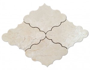 Masterpiece Crema Marfil Opus Pattern Polished Mosaic Tile by Soci