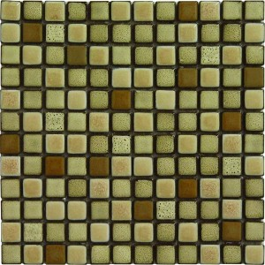 1×1 Sutton Blend Square Pattern Polished Mosaic Tile by Soci